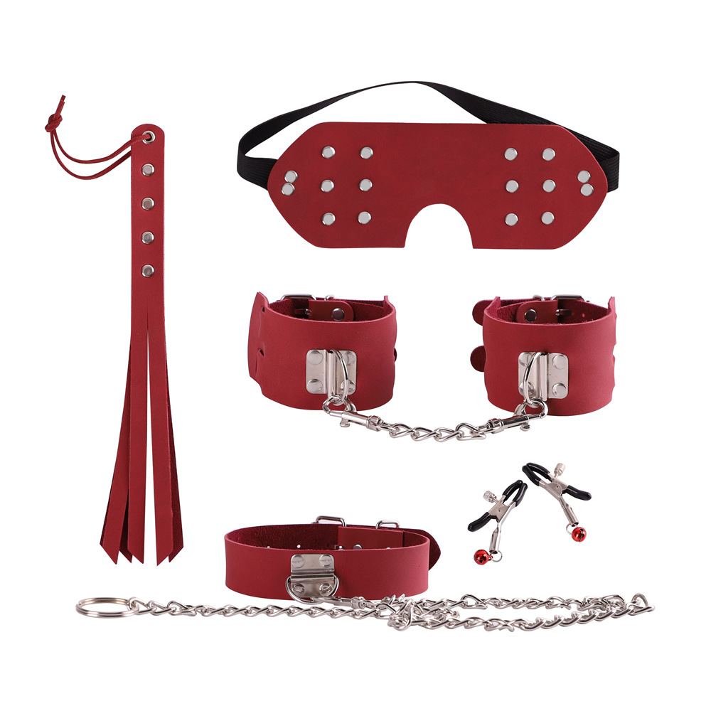 Hot Sex Toys Handcuffs Police Cosplay Tools Toys for Set Handcuffs Nipple Clamps Gag Whip Rope Sex Toys For Couples (2)