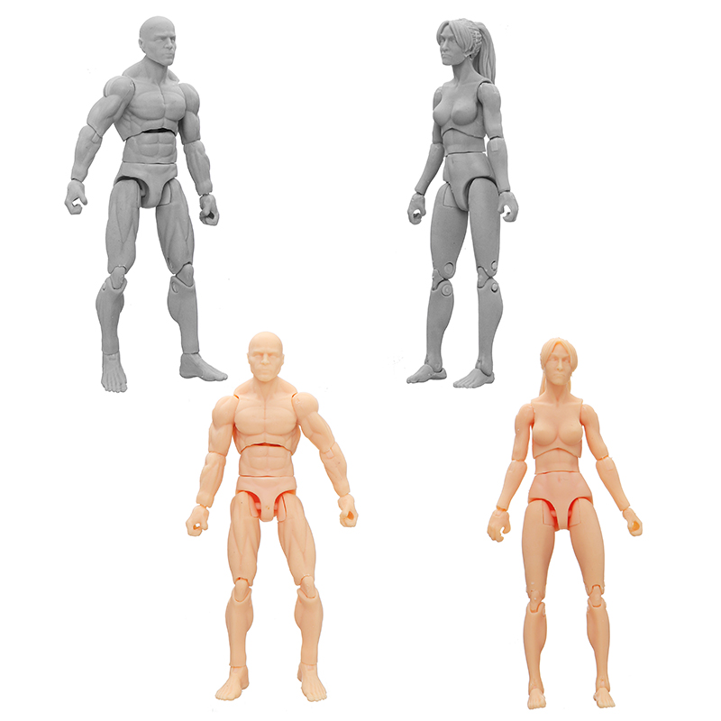 "1//18 3.75/"" PVC Female Body Action Figure Skin version"