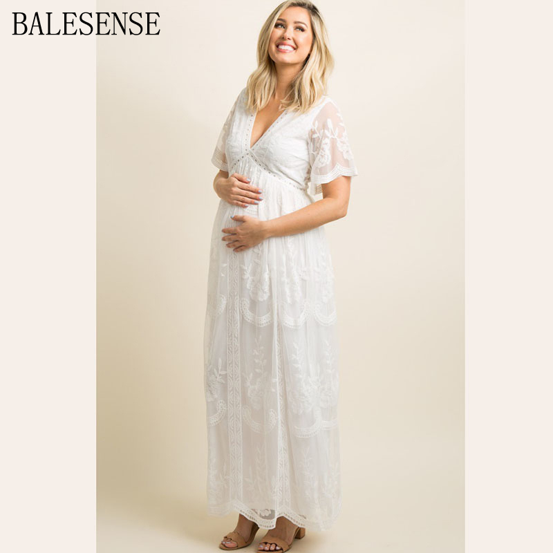 pentirsi tumore strega  Maternity Dresses for Photo Shoot Summer V Neck White Lace Short Sleeve Pregnancy  Dress Pregnant Women Photography Maxi Dresses|Dresses| - AliExpress