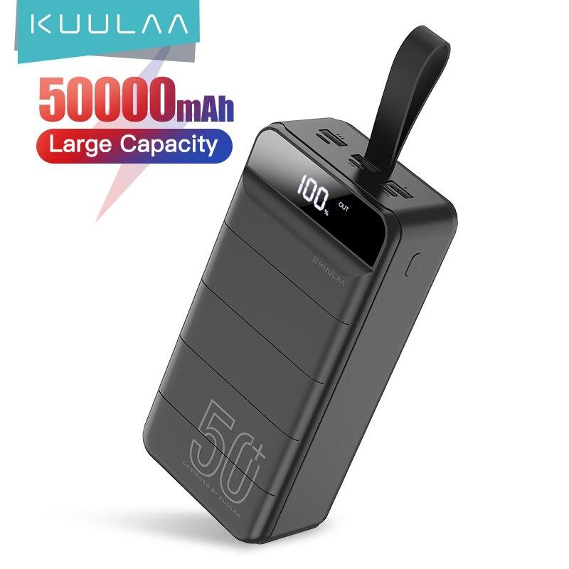 KUULAA batterie externe 50000 mAh chargeur portatif 50000 mAh USB batterie externe chargeur pour Xiaomi Mi iPhone 9 8