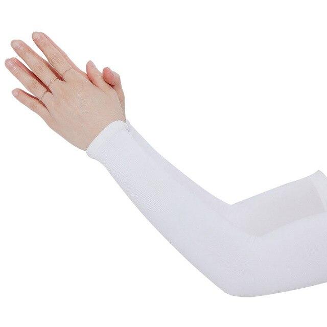 Mangas de braço unissex braço sem dedos manga protetor solar proteção uv gelo legal ciclismo correndo pesca escalada condução braço capa 5