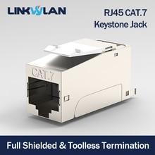 مقبس CAT7 عالي الجودة مع Keystone معزول بالكامل ، RJ45 إلى LSA ، اتصال خالٍ من الأدوات ، متوافق مع أنظمة Cat6A/Cat.6