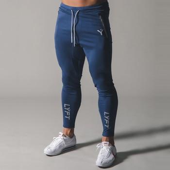 2021 New Men's sports pants Fitness Jogging pants Fitness Jogging pants Slim Men's Leisure cotton Training