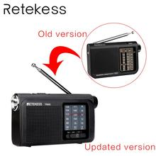 Retekess TR605 FM/MW/SW Portable Radio 3 band receiver for old people with FM AM SW antenna Flashlight portable FM radio antenna 5 pcs portable radio retekess v 117 3 band fm am sw radio battery powered emergency receiver radio station f9207a
