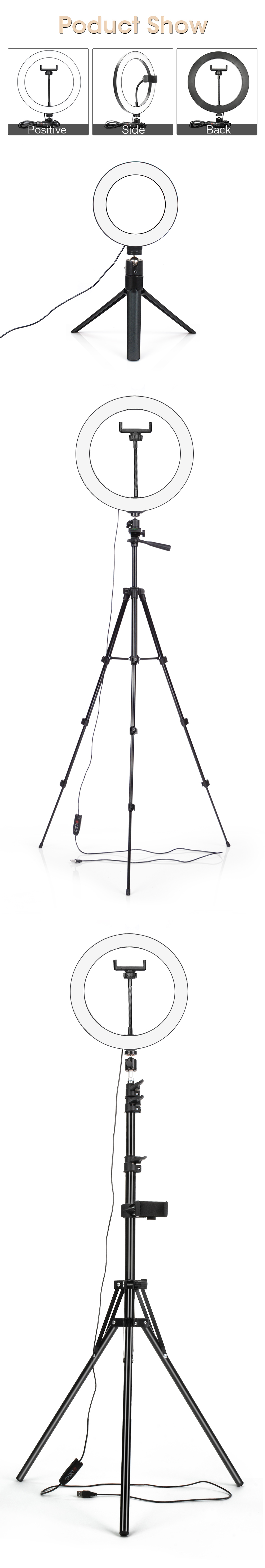 Hcde376a6dc2d461cb6b625a8a33ea8adG LED Ring Light Photography Lighting Selfie Lamp USB Dimmable With Tripod For Youtube Photo Studio Makeup Video Live