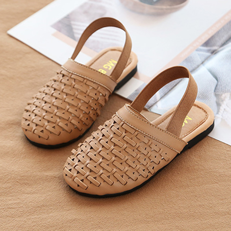 Kids Flat Sandals For Girls Fashion Weave Breathable Toddler Infant Kids Girls Princess Shoes Casual INS Style Casual Shoes