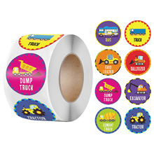 Stickers Teacher-Supplies Birthday Home Cognition Party-Decor 50-500pcs Bus for Kids