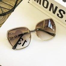 Marke Design Randlose Frauen Sonnenbrille Luxus Dame Sonne glas Frau 2020 Gradienten Rosa Blau Objektiv Brillen Platz