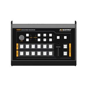 Image 2 - Avmatrix VS0601 Mini 6 kanał SDI/HDMI wielu formacie przełącznik wideo z drążka w kształcie litery T, AUTO, cięcia przejścia i wytrzeć efekty