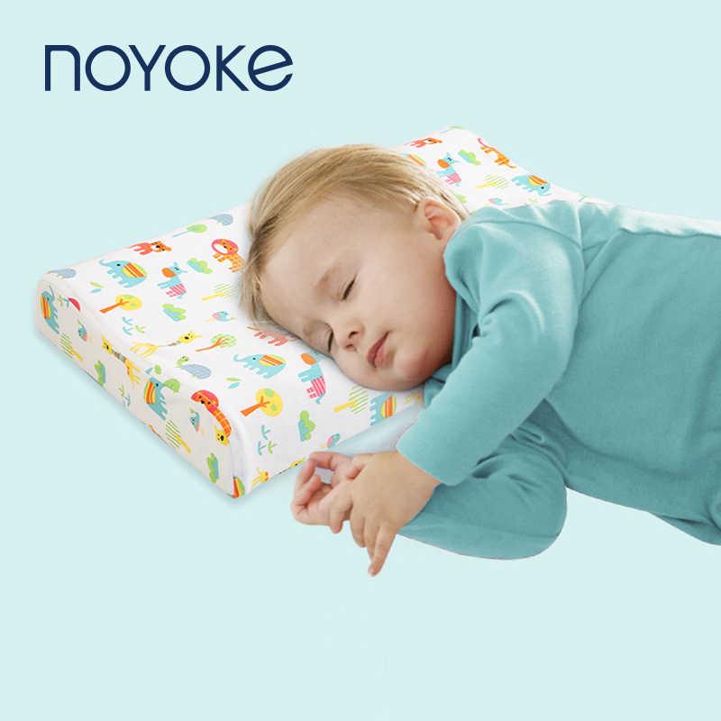 NOYOKE Bambini Cuscino In Lattice Naturale Del Bambino Cuscini Da Letto Per Dormire Bambini di Stampa Del Fumetto Cuscini Per 0-12 Anni di Età