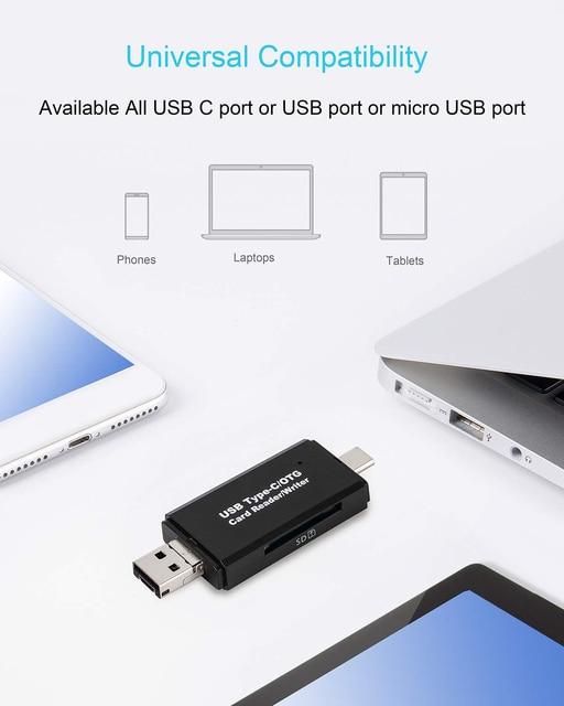 OTG Micro SD Card Reader USB 3.0 Card Reader 2.0 For USB Micro SD Adapter Flash Drive Smart Memory Card Reader Type C Cardreader 3