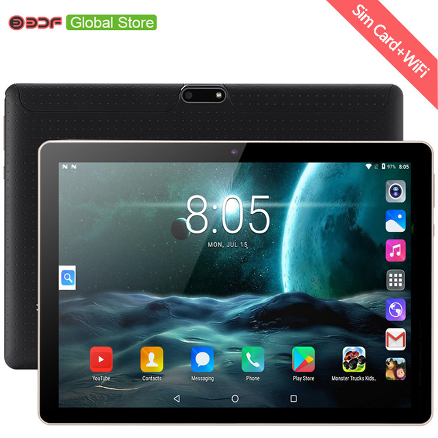 BDF 태블릿 PC 10인치 안드로이드 7.0 구글 마켓 3G 전화 듀얼 SIM 카드 와이파이 GPS 블루투스, 10.1 태블릿 오리지널 신제품