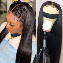130% Brazilian Straight Closure Wig Long Frontal Wigs 13x6x1 Lace Front Human Hair Wigs For Black Women