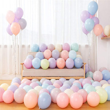 100pcs 10 Macaroon Latex Balloons Wedding Party Birthday Adult Decorations Kids Colorful Air Balls Balloon Arch