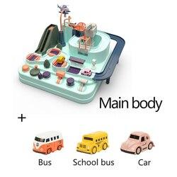 Развивающие игрушки на рельсах, экологически чистые детские игрушки для приключений, дорожка для автомобиля, настольные игры, игрушки-голо...