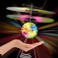 Mini drone RC Hubschrauber Flugzeuge Fliegen Ball fliegende spielzeug Ball Shinning LED Beleuchtung Quadcopter Eders Hubschrauber fliegen Kinder spielzeug