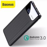 Baseus 10000 mah power bank 2a carregador rápido 3.0 carregador de viagem jogador digital powerbank para iphone samsung galaxy s8 s9 Baterias Externas     -