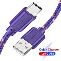 USB Typ C Kabel für xiaomi redmi k20 pro 1M 2M 3M USB C Handy Kabel schnelle Lade Typ-C Daten Kabel für Samsung Huawei