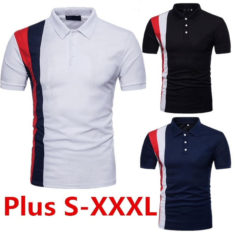 Zogaa 2020 Casual Smart Polo Shirt Men's Short Sleeve Business Casual Patchwork Tops Button Turn-down Collar Slim Fit Polo Para