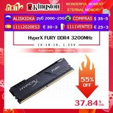 الأصلي كينغستون HyperX FURY DDR4 2666 ميجا هرتز 8 جيجابايت 16 جيجابايت ذاكرة وصول عشوائي مكتبية الذاكرة CL16 DIMM 288 دبوس سطح المكتب الذاكرة الداخلية للألعاب