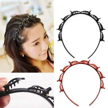AWAYTR Unisex Alice Hairband Headband Men Women Sports Hair Band Hoop Metal Hoop Double Bangs Hairstyle Hairpin Hair Accessories 5