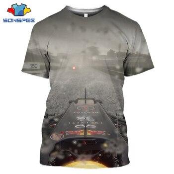 Camiseta deportiva de moda de ocio para verano, 3D Camiseta con estampado de Fórmula 1 de la FIA, camiseta del mundo, Camiseta de deporte de Championship, Top de competición de manga corta