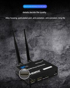 Image 4 - 1TX إلى 1 2 3 RX 100M 200M اللاسلكية HDMI موسع جهاز ريسيفر استقبال وإرسال من خلال جدار الأشعة تحت الحمراء عن بعد HDMI ملحق تمديد كابلات 1X3 الخائن
