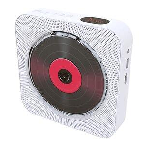 Image 5 - Leitor de dvd suporte de parede portátil bluetooth casa áudio boombox bluetooth cd/dvd tudo em um leitor rádio fm de controle remoto sem fio