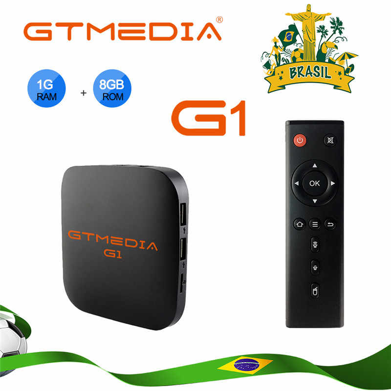 Gtmedia G1 Tv Box Media Player 1 Gb Ram 8 Gb Rom S905W Android 7.1 Afstandsbediening 4K 2K Hd 2.4G Ingebouwde Wifi Set Top Box Voor Tv