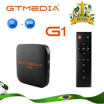 GTmedia G1 Tv Box Media Player 1GB RAM 8GB ROM S905W Android 7.1 Remote Control 4K 2K HD 2.4G Built In Wifi Set Top Box For TV global version xiaomi mi tv stick android tv 9 0 2k hdr dts hd dual decoding 1gb ram 8gb rom google assistant vs fire tv stick