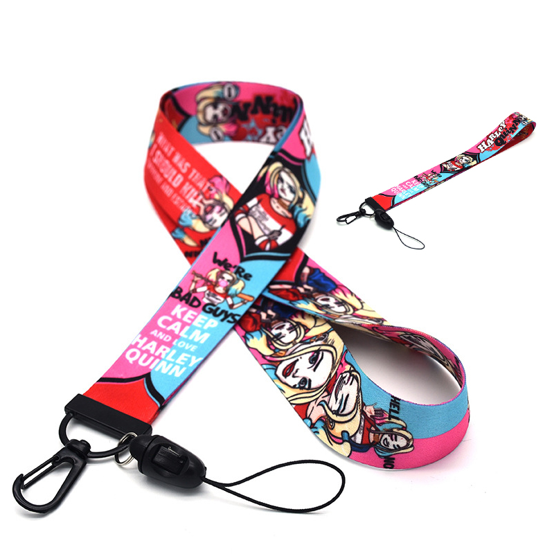 Harley Quinn Birds Of Prey Mobile Phone Straps Cosplay Anime Phone Cord Lanyard Props Accessory
