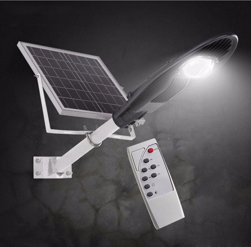 4pcs 20W 30W 60W LED Solar Street Light IP65 Waterproof Integrated All In One Bridgelux Solar Street Lighting Remote Control