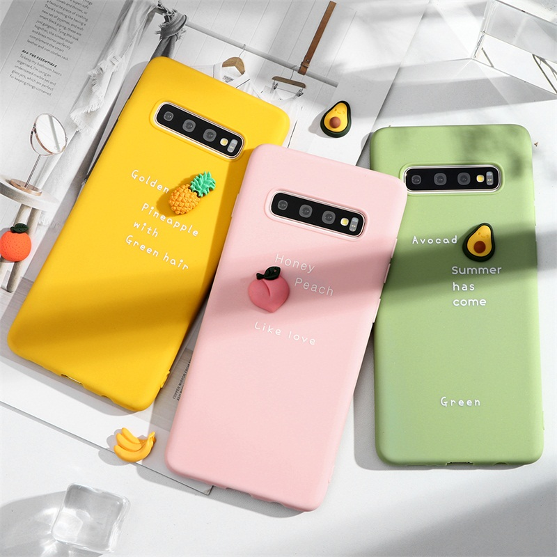 <font><b>3D</b></font> Candy Fruit Letter <font><b>Case</b></font> For <font><b>Samsung</b></font> <font><b>Galaxy</b></font> S20 Ultra S10 S9 S8 <font><b>Plus</b></font> S10e <font><b>S6</b></font> S7 <font><b>Edge</b></font> A10e A30 A20 A50 A30S A70 A51 A71 Fundas image