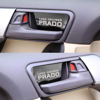 Wewnętrzny uchwyt klamki samochodu ozdoba dla Toyota land cruiser prado akcesoria ze stali nierdzewnej ze stali nierdzewnej Car Styling 4 sztuk tanie i dobre opinie CN (pochodzenie) Kieszeń tylnego siedzenia Stainless steel