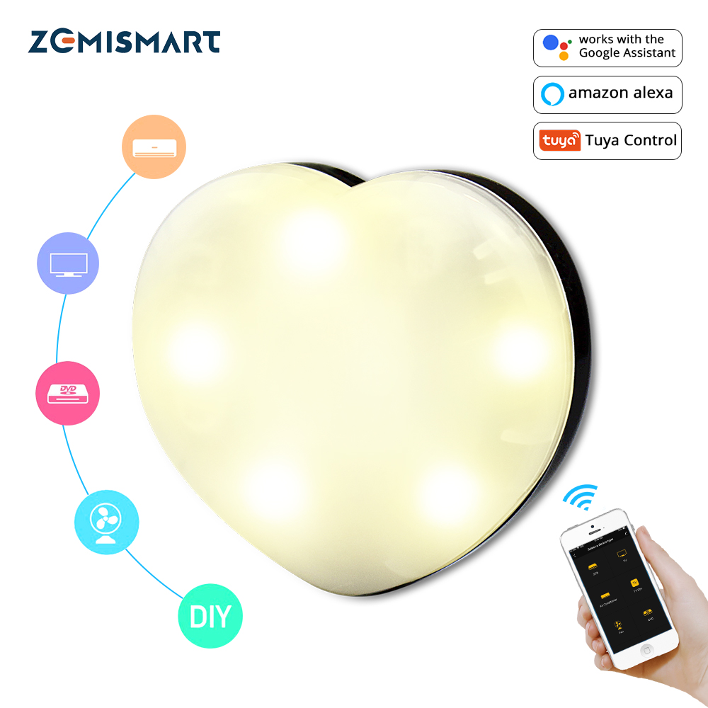 Zemismart IR Remote Control For TV Air Condition Porjector Fan Tuya APP Alexa Google Home Voice Control