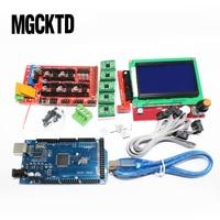 1set Mega 2560 R3 CH340 + 1pcs RAMPS 1.4 Controller + 5pcs A4988 Stepper Driver Module +1pcs 12864 controller for 3D Printer kit