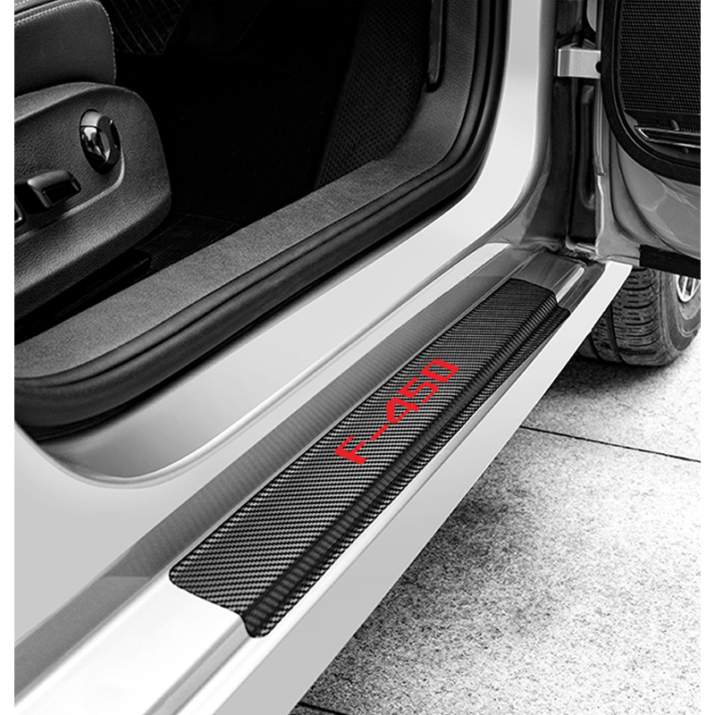 Image 2 - Car Interior Accessories Door Sill Scuff Welcome Pedal Threshold For Ford F 450 Carbon Fiber Protect Stickers-in Interior Mouldings from Automobiles & Motorcycles