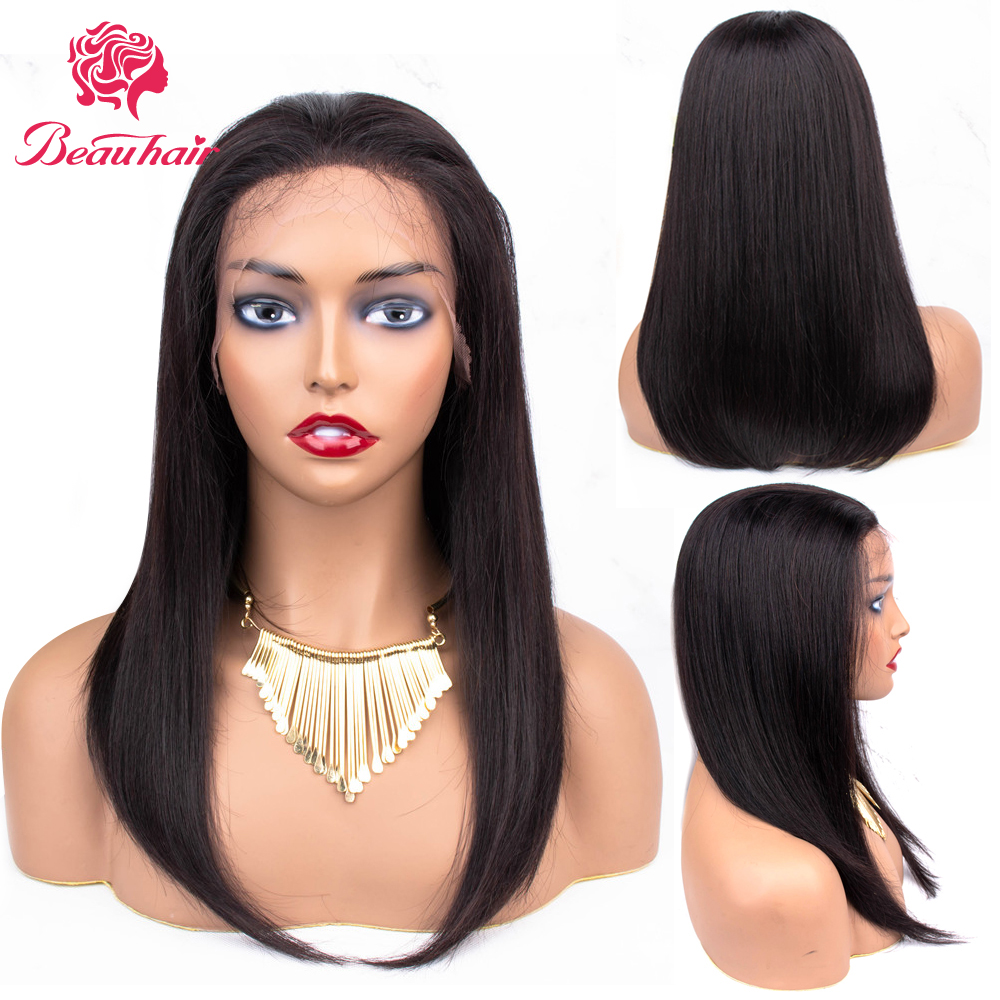 Brazilian Straight Human Hair Wigs Lace In Front  Human Hair Wigs Pre Plucked With Baby Hair For Black Women