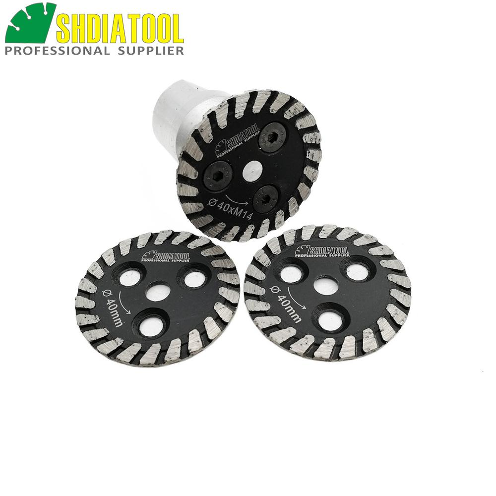 SHDIATOOL 1pc Hot Pressed Mini Diamond Engraving Saw Blade With Removable M14 Long Flange And 2pcs Blades Cutting Disc