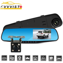 Full HD 1080P Car Dvr Camera Auto 4.3 In Rearview Mirror DVR Dash Camera For Car DVR Recorder Video Registrator Mini Avtoregistr