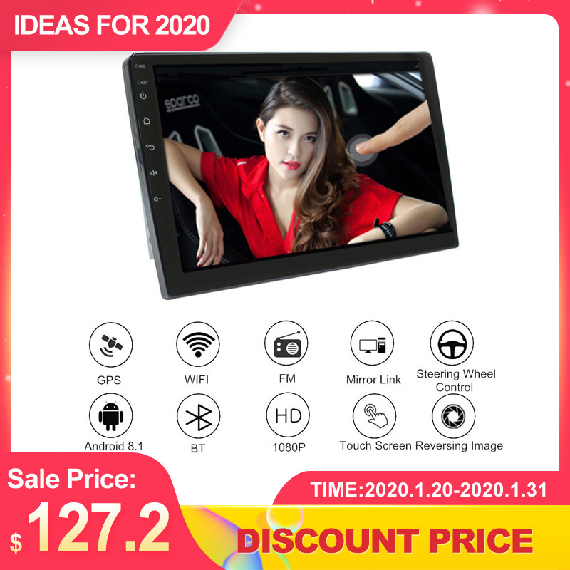 """10"""" Car Multimedia Player Car Stereo Radio Android 8.1 2.5D Screen 4G Wifi bluetooth Universal GPS Navigation Video Player"""