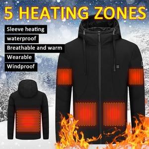 HOT Men Autumn Winter Smart Heating Cotton Vest USB Infrared Electric 8 Areas Heating Vest Women Outdoor Sports Coat Warm Jacket