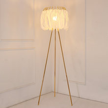 Nordic Modern Luxury Feather Floor Lamp High-grade Stand Light Floor Lamps for living room Drop shipping Indoor Light Fixtures(China)