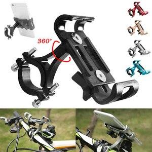 Image 5 - 2019 New Bicycle Mobile Phone Holder Aluminum alloy Anti shock Phone Holder Bike Phone Holder Cycling Bracket Mount Bike Rack