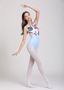 Image 5 - Купальник для балета с розовым принтом, женский купальник для танцев 2020, Новое поступление, летний гимнастический танцевальный костюм, балетный купальник высокого качества для взрослых