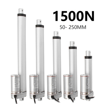 цена на actuator linear 50mm 100mm 150mm 200mm stroke 12V 24V metal gear electric linear actuator motor 100/300/500/700/900N/1200N1500N