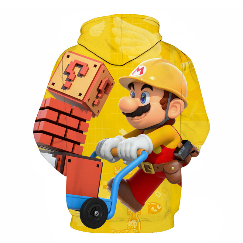 Classic Cartoon Super Mario Bros 3D Print Jacket Men/Women Casual Streetwear Hoodie Man Cute Clothes Sweat Pour Homme Harajuku