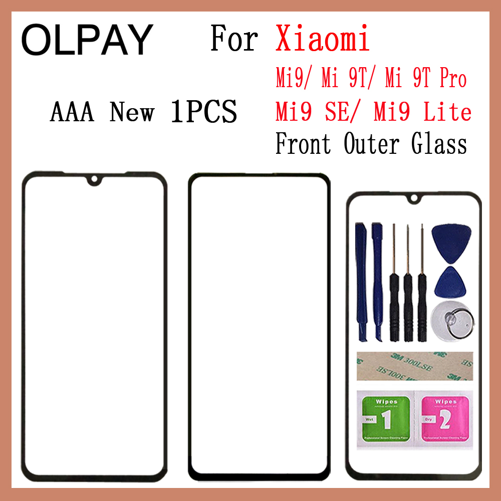 New For Xiaomi Mi9 Mi 9 SE Mi9 Lite Mi9T Mi 9T Pro Panel Front Outer Glass Touch Screen Panel Replacement Parts NO LCD Digitizer