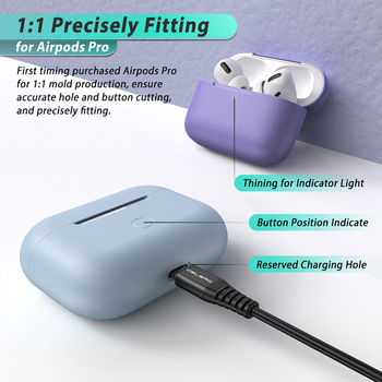 Solid Soft Silicone Case for AirPods Pro 3