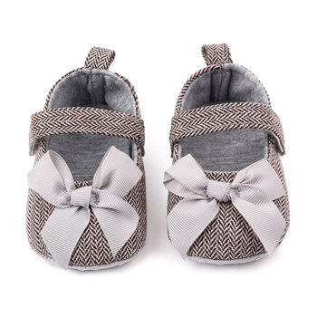 New Baby Girls Shoes Bowknot Design Princess Anti-Slip Toddler Soft Soled Casual Walking Shoe Newborn Moccasins фото